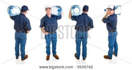 Water Delivery Man - Four Views