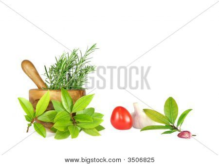Fresh Herbs Tomato And Garlic