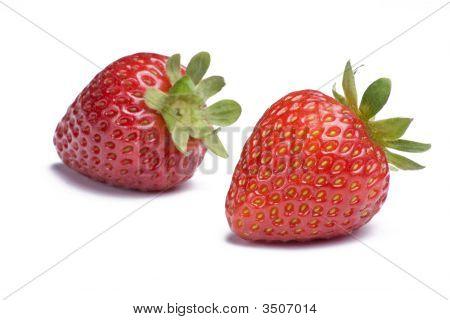 Strawberries On White