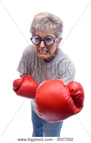 Grandmother Boxing