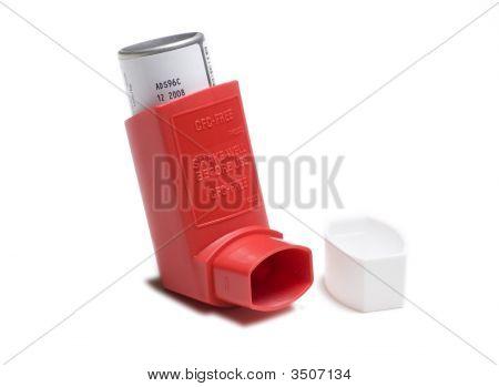 Red Asthma Inhaler