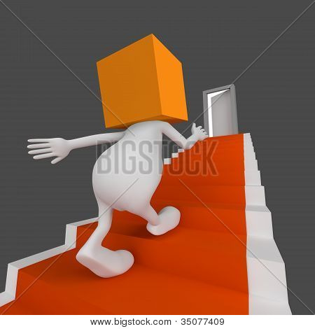 Stairs With Door