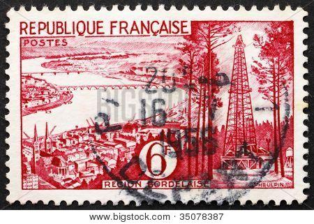 Postage stamp France 1955 Bordeaux, Gironde, France