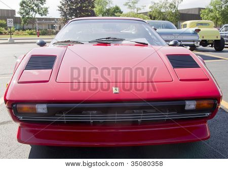 1977 Red Ferrari Front View