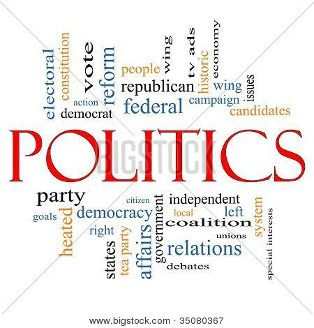 Politics Word Cloud Concept
