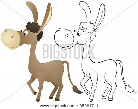 Fun Cartoon Donkey