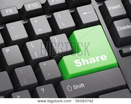 Black Keyboard With Share Button