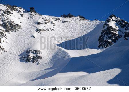Ski Piste Or Of The Mont Fort In Verbier Switzerland