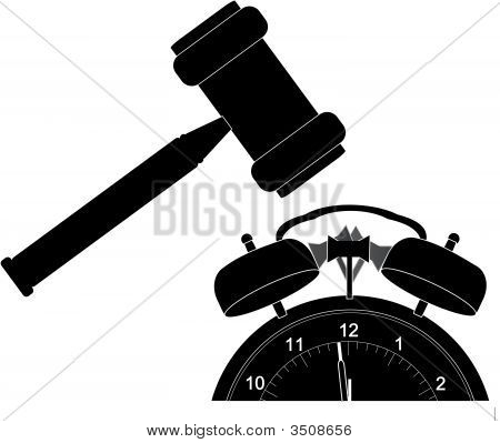 Gavel Smashing Alarm Clock.
