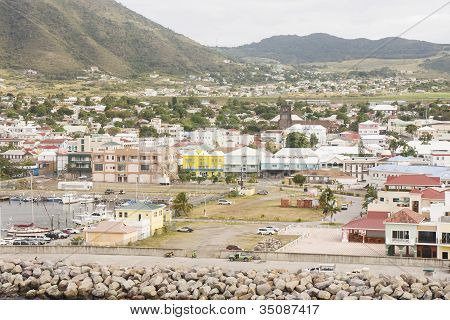 Colorful Buildings On Coast Of St Kitts
