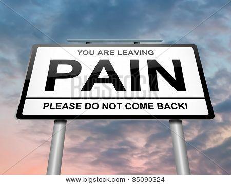 Schmerz-Konzept.