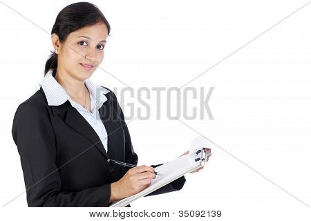 Female Entrepreneur Taking Notes
