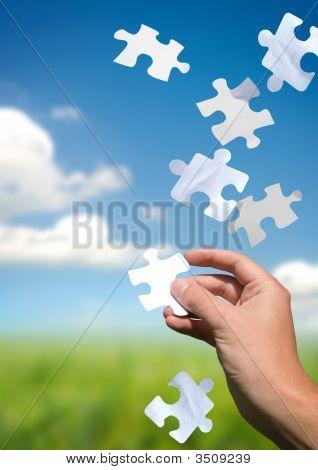 Puxando as peças do Puzzle
