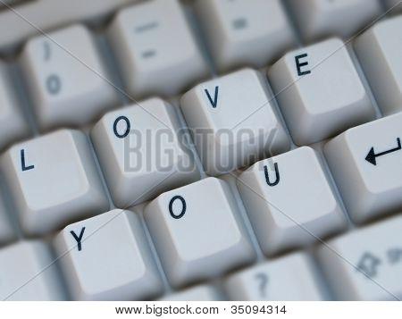 Computer keyboard key text closeup