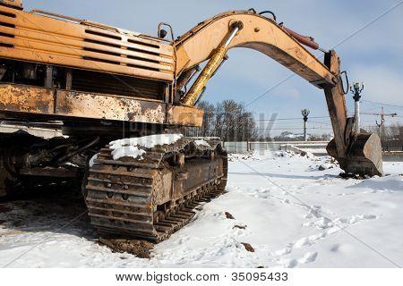 Earth digging construction machine scoop equipment