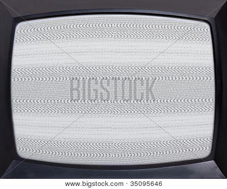 Retro TV Geräte Lärm-Bildschirm