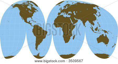 Interrupted World Map