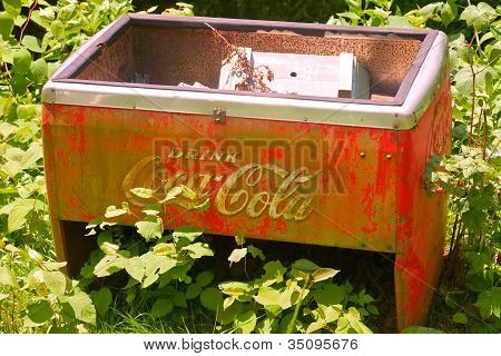 Old Coca Cola Ice Box