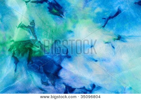 Flowing blue and green abstract design