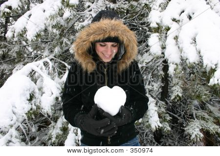 Girl Holding Heart: Room For Copy