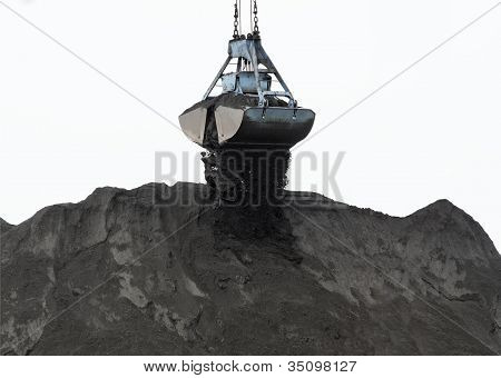 Coal Powder And Clamshell Bucket