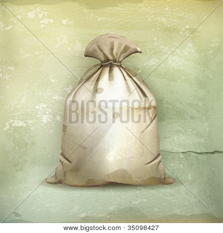 Bag, old-style vector