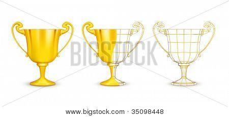 Cups, vector