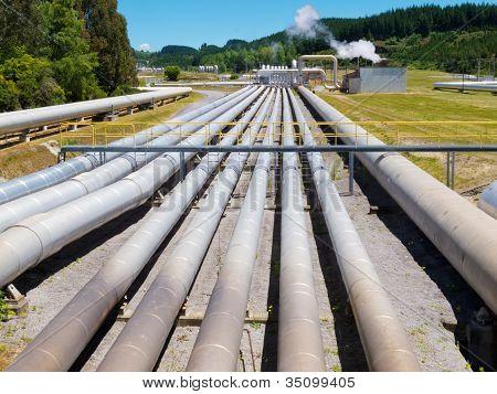 Estação de energia geotérmica de Wairakei na Nova Zelândia
