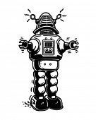 Mister Robot - Retro Clipart Illustration