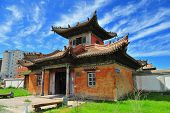 stock photo of ulaanbaatar  - Traditionnal Buddhist monastery in Ulan Bator - JPG