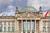 stock photo of geodesic  - Reichstag in berlin germany - JPG