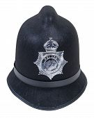 pic of bobbies  - Black English Bobby policeman hat with badge  - JPG