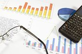 pic of financial audit  - Finantial audit of the balance of a successful company