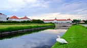 picture of munich residence  - Picturesque nature landscape with Nymphenburg Palace Munich - JPG