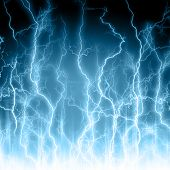 image of lightning  - Abstract light blue background - JPG