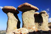 Babele - Geomorphologic rocky structures landmark in Bucegi Mountains, Romania, Europe poster