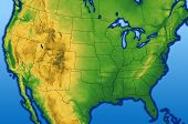 picture of usa map  - Continental USA map showing the Rocky Mountains - JPG