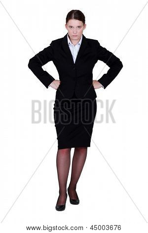 Stern businesswoman