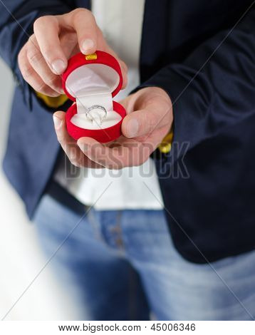 Engagement Ring Or Present Given By Male Hands