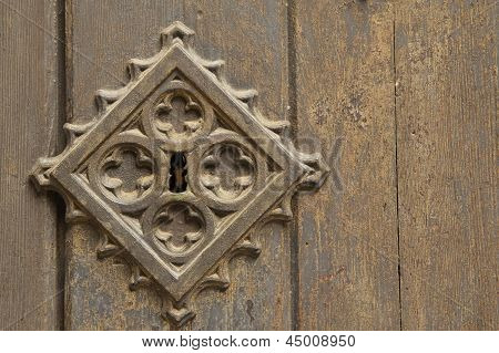 Old Metal Medieval Door Background