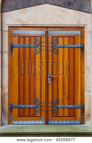 Wooden Doors With Decorative Fittings
