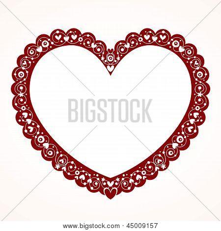 Valentine heart decorative frame