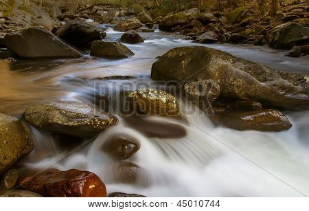Smoky Mountains, river flow