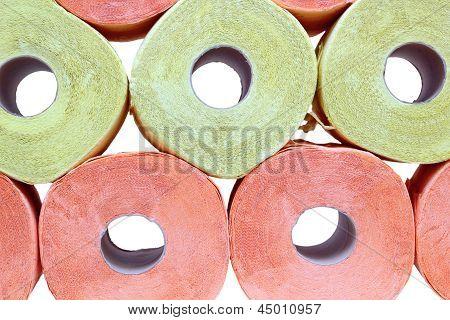 Arrangement Of Toilet Papet