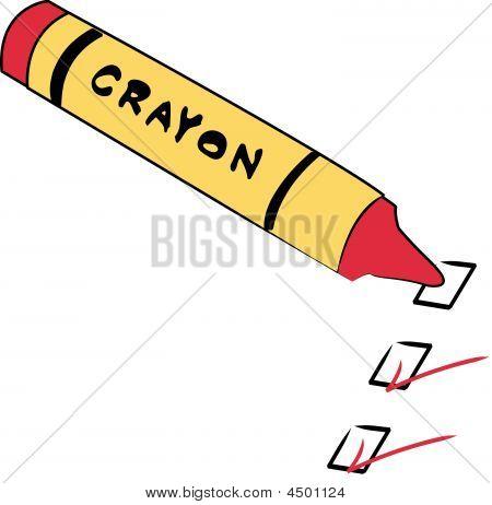 Crayon With To Do Checks.