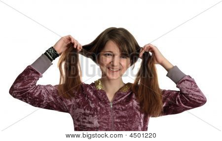 Long-haired Teen Girl