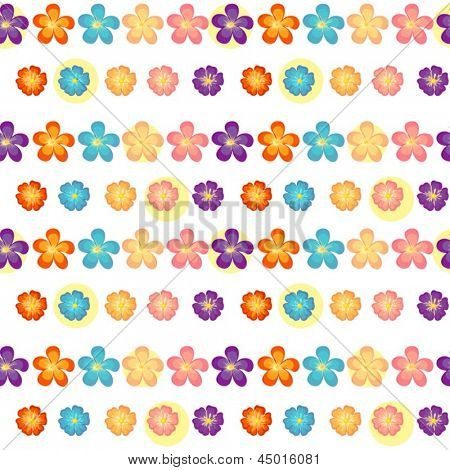 Illustration of a flowery wallpaper design on  a white background