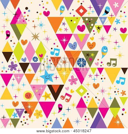 fun triangles background