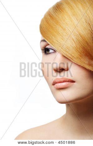 Beautiful Blond Woman - Creativity Hairstyle