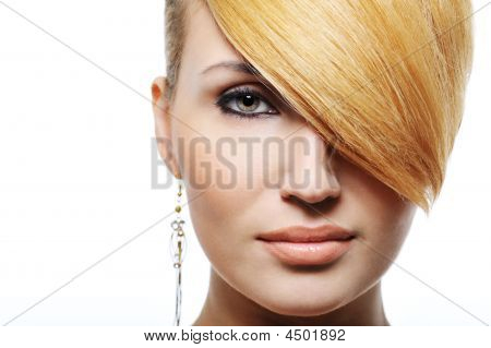 Beauty Blond Hairstyle